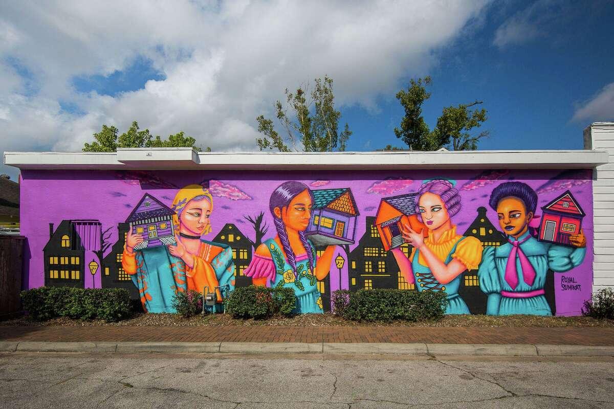 "Royal Sumikat's ""Bringing Home with Us"" mural at Henderson & Kane General Store"