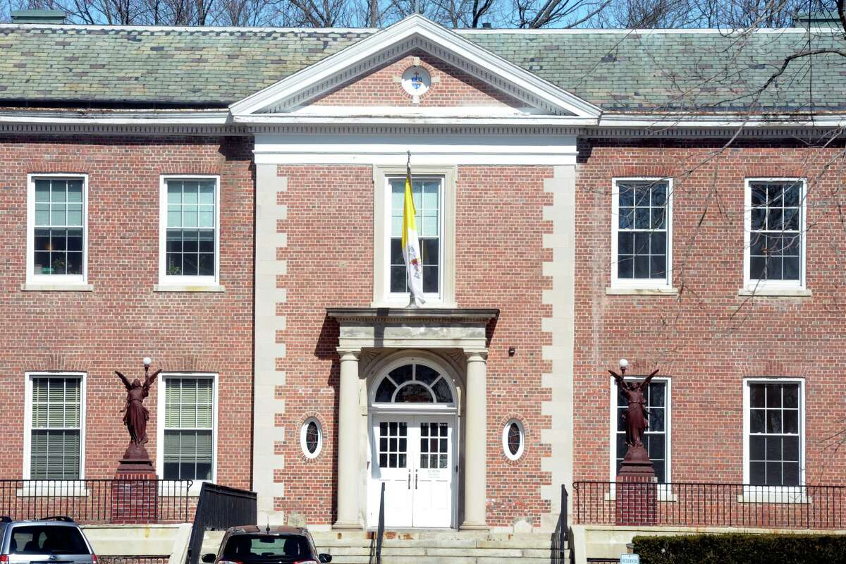 The Catholic Center, headquarters of the Diocese of Bridgeport, in Bridgeport in April.