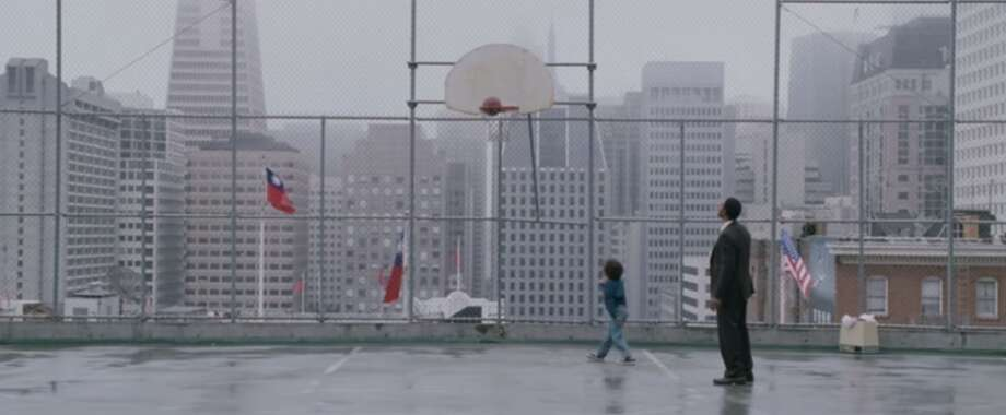 "A memorable scene from the 2006 film ""Pursuit of Happyness"" starring Will Smith was filmed at a basketball court in San Francisco's Chinatown. Photo: Sony / Columbia Pictures"