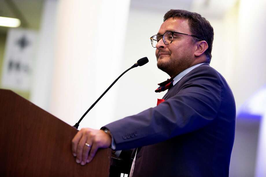 David Campos, chairman of the San Francisco Democratic Party, has paused his call for a boycott honoring a major donor to Republicans and Democrats. Photo: Santiago Mejia / The Chronicle
