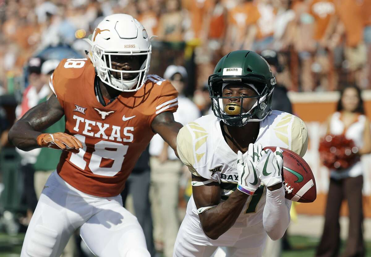 7. Texas-Baylor SRFPS Aggregate Score: 52.5 UT holds a whopping 76-26-4 advantage in this series and has not lost to its Big 12 rival since 2014.  AP Photo/Eric Gay, File)