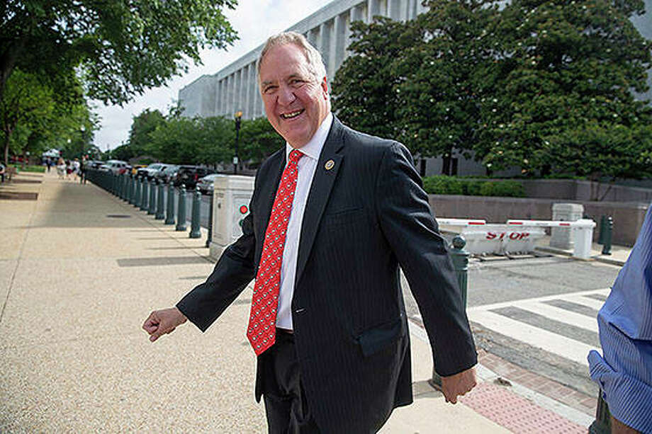 Rep. John Shimkus leaves a closed-door GOP meeting on Capitol Hill in Washington. Shimkus says he won't run for re-election after more than 20 years in Congress. Photo: J. Scott Applewhite | AP