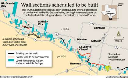 how much border wall has been built under trump