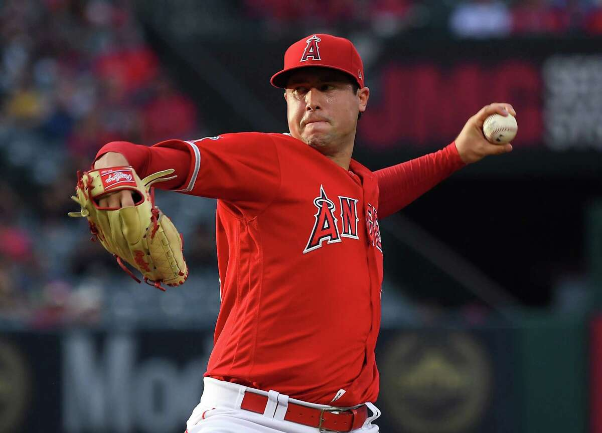 ANAHEIM, CA - JUNE 29: Tyler Skaggs #45 of the Los Angeles Angels pitches in the first inning of the game against the Oakland Athletics at Angel Stadium of Anaheim on June 29, 2019 in Anaheim, California. (Photo by Jayne Kamin-Oncea/Getty Images)