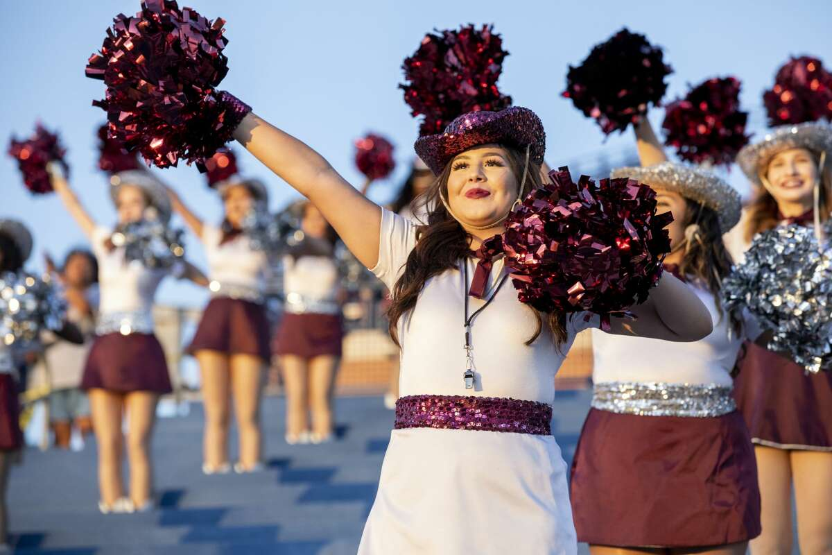 Midland Lee's Dixie Dolls performed at Midland Lee's verses Smithson Valley football game Friday, August 30 at Grande Communications Stadium. Jacy Lewis/Reporter-Telegram
