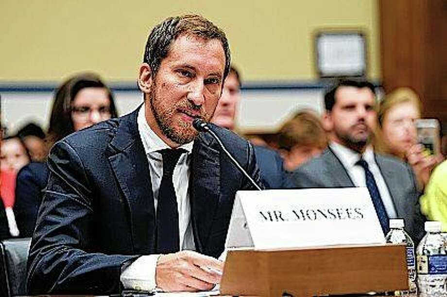 JUUL Labs co-founder and chief product officer James Monsees testifies before a House Oversight and Government Reform subcommittee on Capitol Hill in Washington. Juul Labs is facing mounting scrutiny from state law enforcement officials, with the attorneys general in Illinois and the District of Columbia investigating how the company's blockbuster vaping device became so popular with underage teens. Photo: Susan Walsh | AP