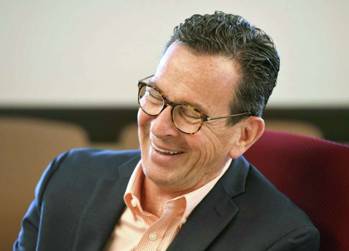 University of Maine Chancellor Dannel P. Malloy, the former Governor of Connecticut, chats in the executive offices at the University of Maine main campus in Orono, Maine on Monday, Aug. 26, 2019. Malloy began his service as the 13th Chancellor of the University of Maine System in July and has spent his first months traveling to the many campuses and getting to know school leaders, faculty and students.