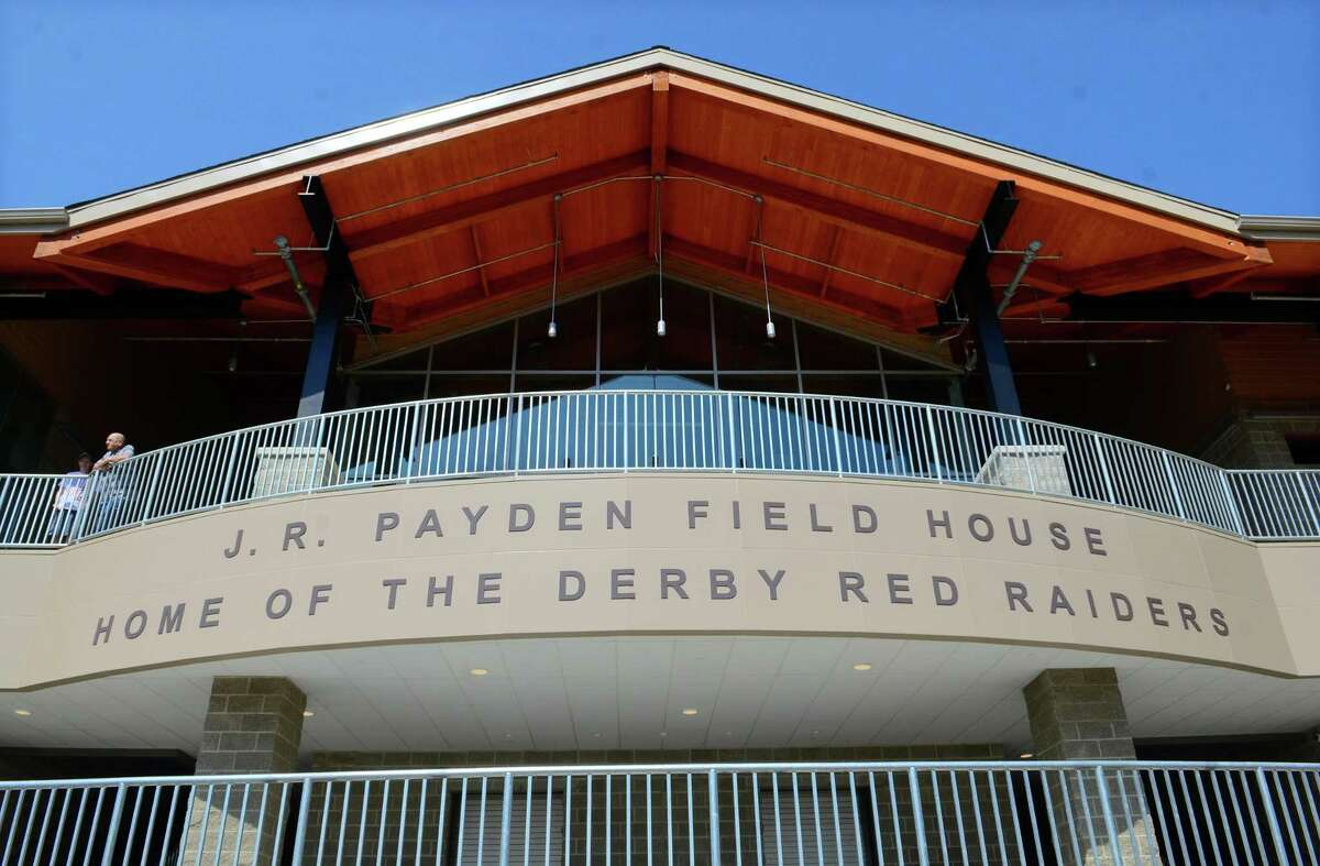 A view of the new J.R. Payden Field House at Derby High School in Derby on Friday.