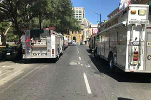 San Jose firefighters responded to a hazmat situation at the Fairmont Hotel Saturday morning, shutting down Market Street.