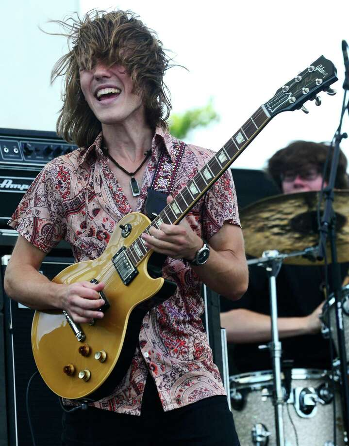 Jake Kulak and his band perform during the 12th annual Blues & Views Festival Saturday, August 31, 2019, at the Levitt Pavillion in Westport, Conn. A Fairfield County tradition since 2008, the festival continues Sunday and features a variety of established bands and soon-to-be-famous acts. Photo: Erik Trautmann / Hearst Connecticut Media / Norwalk Hour