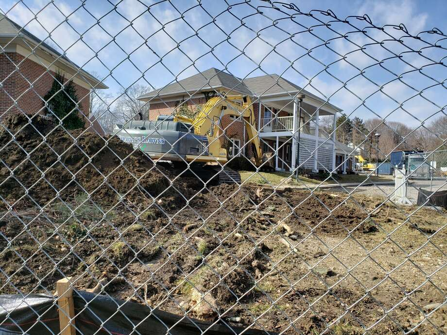 Demolition on the Old Town Hall Homes began last February. Photo: Old Town Hall Homes / Contributed Photo / Connecticut Post