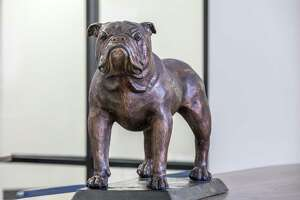 A bronzed bulldog mascot will soon greet students at Summer Creek High School.The statue was given by Kingwood High School in appreciation for help after Hurricane Harvey.