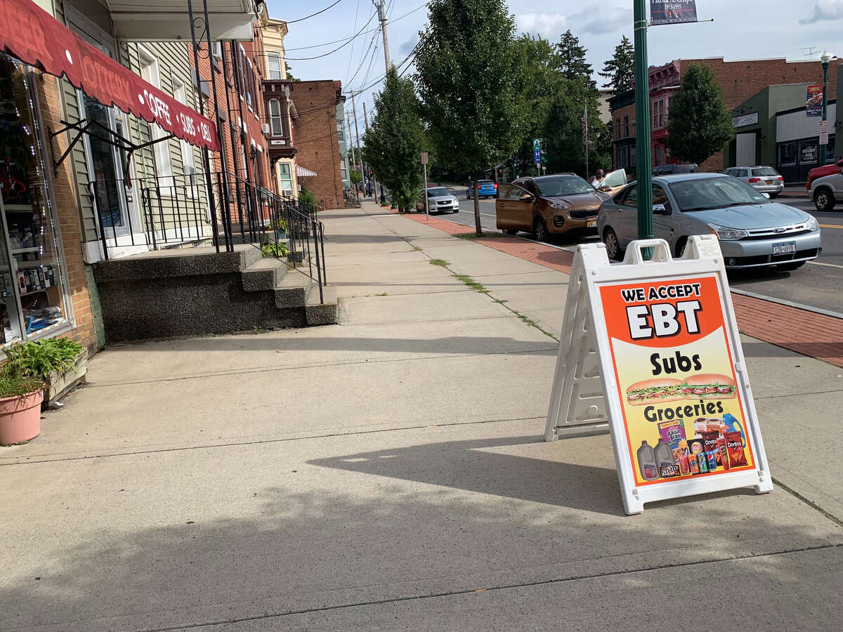 Nine Rensselaer County businesses were probed this week as part of a joint federal and local investigation into stores accused of illegally trafficking food-stamp benefits.