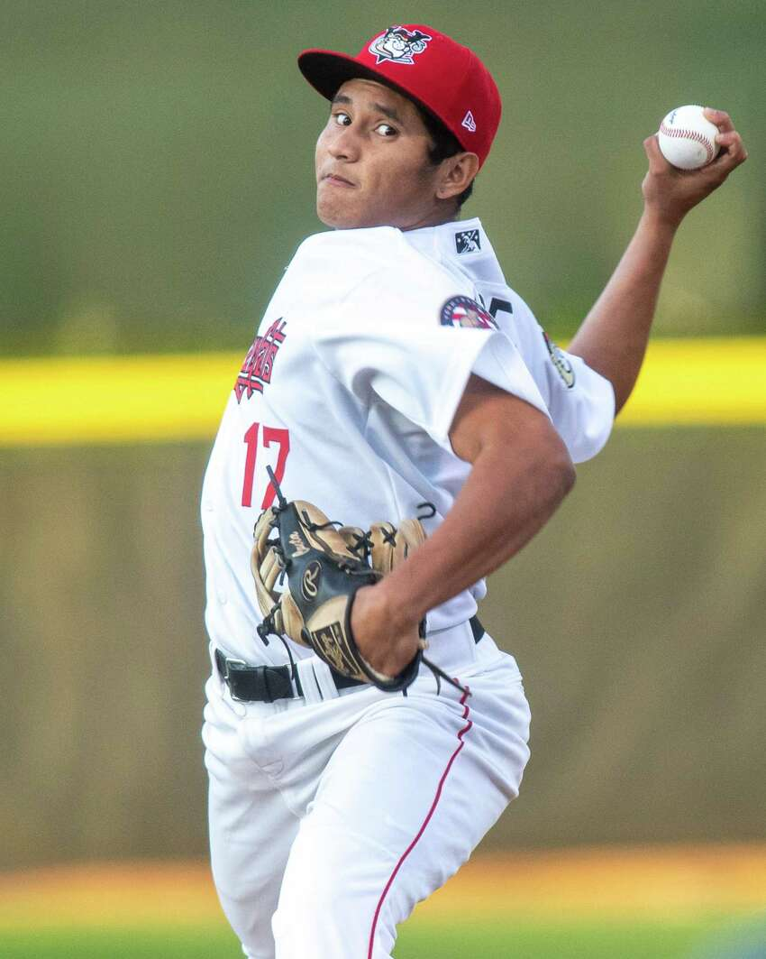 Tri-City ValleyCats starting pitcher Jairo Lopez against the Vermont Lake Monsters on Saturday, Aug. 31, 2019 at the Joseph L. Bruno Stadium (Jim Franco/Special to the Times Union.)