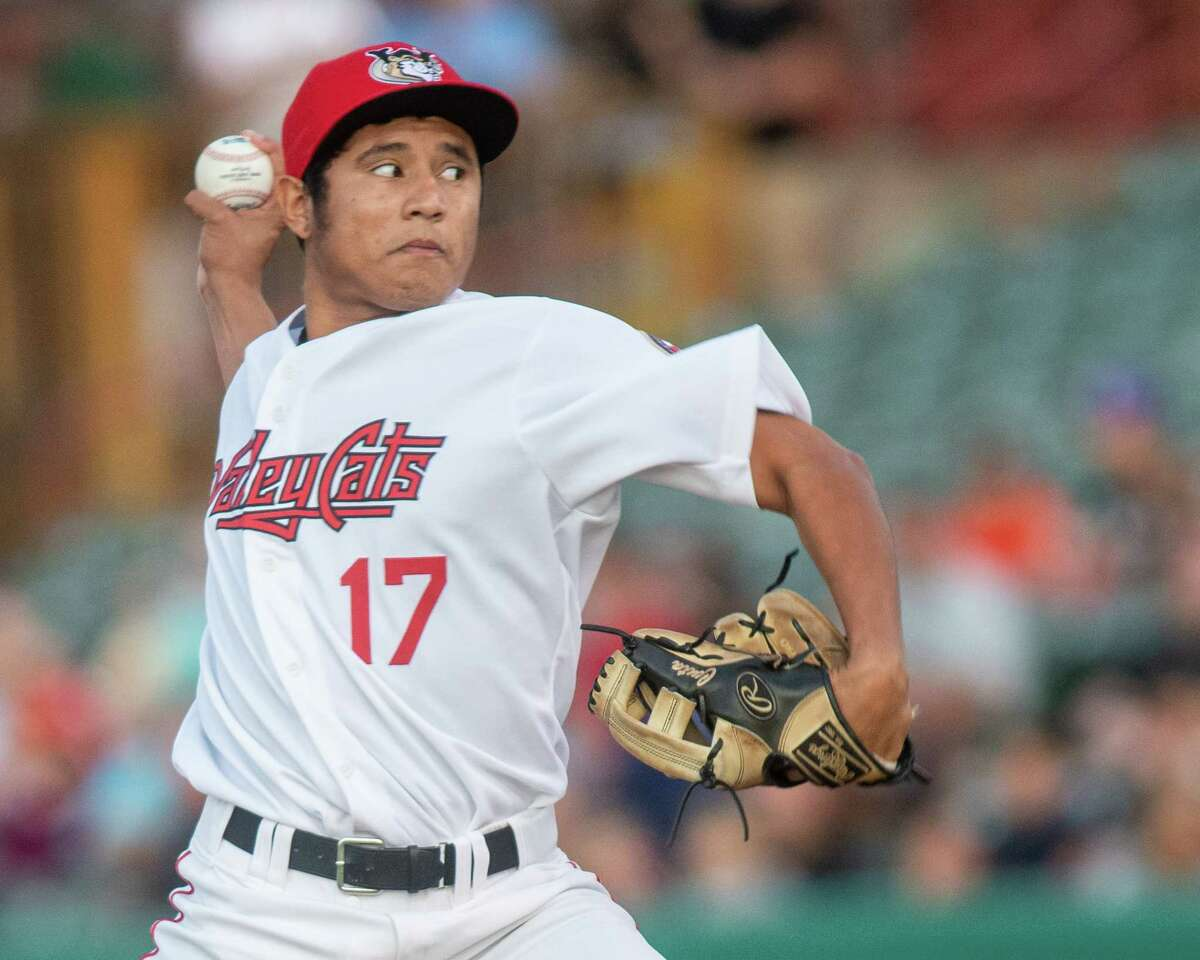Tri-City ValleyCats starting pitcher Jairo Lopez against the Vermont Lake Monsters on Saturday, Aug. 31, 2019 at the Joseph L. Bruno Stadium in Troy NY (Jim Franco/Special to the Times Union.) at the Joseph L. Bruno Stadium (Jim Franco/Special to the Times Union.)
