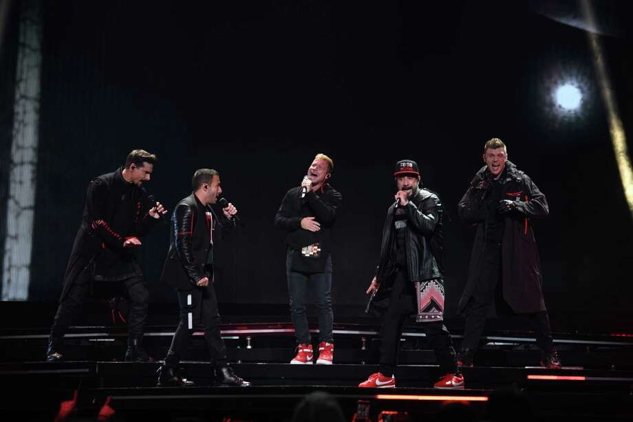 The Backstreet Boys perform at the Toyota Center in Downtown Houston for the DNA World Tour on Saturday, August 31, 2019 Photo: Jamaal Ellis, Contributor / 2019