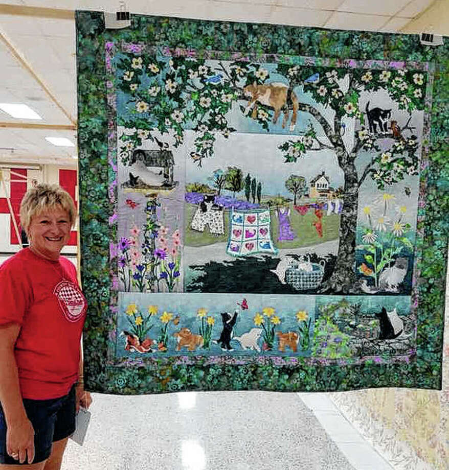 """River Country Quilt Show organizers have announced the winners of their recent show. Sue Becker of Alexander won the viewers' choice best of show award for her """"Whiskers in the Wind""""."""