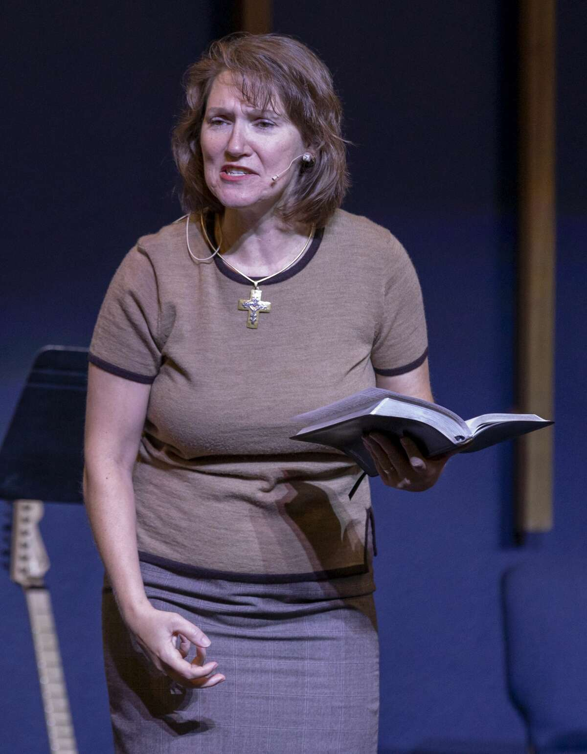 Co-pastor Dawn Weaks talks about the shooting -- that occurred yesterday -- during service Sunday, Sept. 1, 2019 at the Connection Christian Church Odessa.