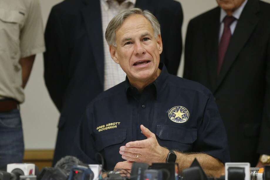 Texas Governor Greg Abbott speaks during a news conference concerning Saturday's shooting Sunday, Sept. 1, 2019, in Odessa, Texas. (AP Photo/Sue Ogrocki) Photo: Sue Ogrocki/Associated Press