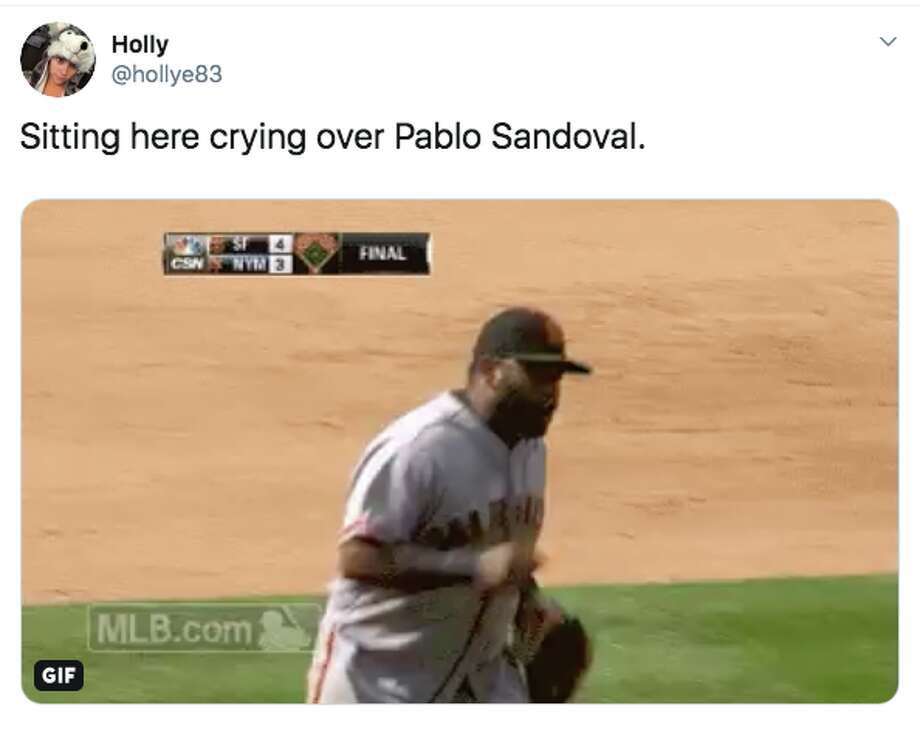 Pablo Sandoval gets standing ovation after what could be his last at-bat with San Francisco Giants
