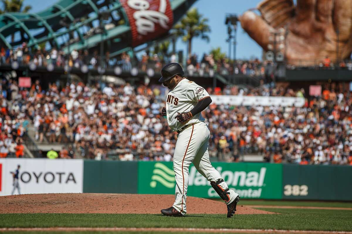 SAN FRANCISCO, CA - SEPTEMBER 01: Pablo Sandoval #48 of the San Francisco Giants returns to the dugout after grounding out against the San Diego Padres during the seventh inning at Oracle Park on September 1, 2019 in San Francisco, California. The San Diego Padres defeated the San Francisco Giants 8-4. (Photo by Jason O. Watson/Getty Images)