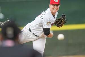 Tri-City ValleyCats starting pitcher Peyton Battlefield during a game against the Vermont Lake Monsters on Sunday, Sept. 1, 2019 at the Joseph L. Bruno Stadium in Troy, NY (Jim Franco/Special to the Times Union.)