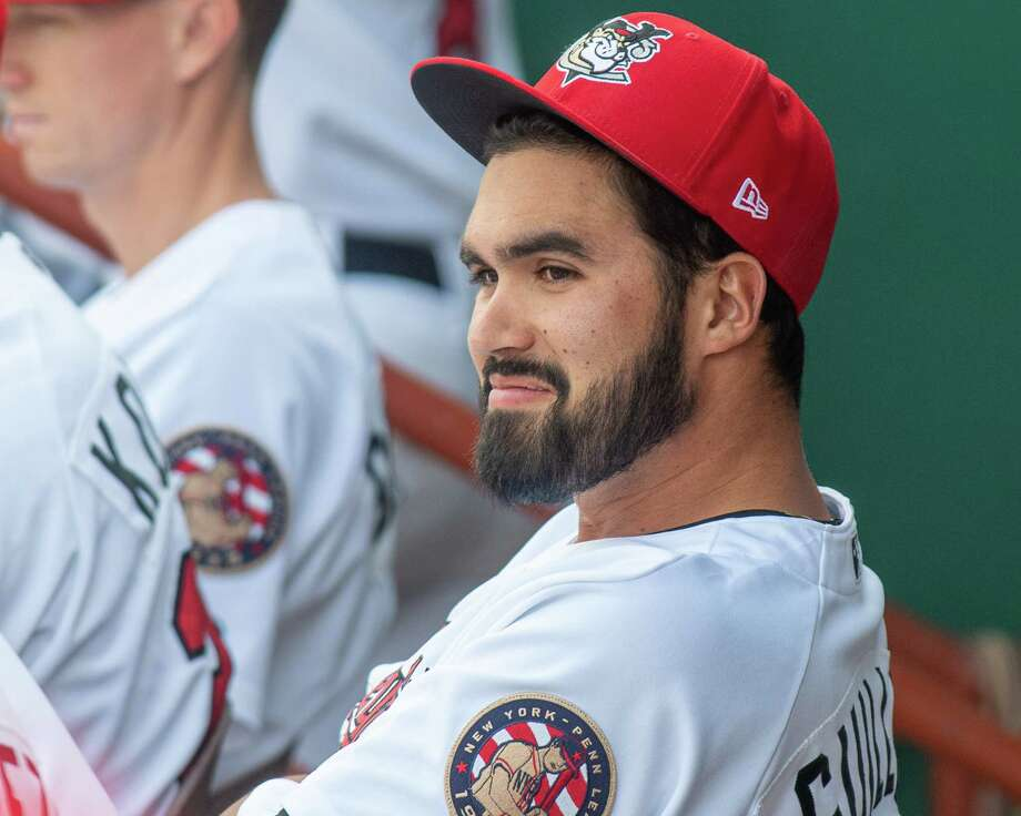 Tri-City ValleyCats Manger Ozney Guillen during a game against the Vermont Lake Monsters on Sunday, Sept. 1, 2019 at the Joseph L. Bruno Stadium in Troy, NY (Jim Franco/Special to the Times Union.) Photo: James Franco / 40047213A
