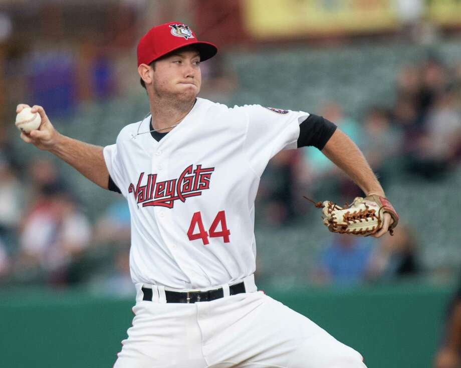 Tri-City ValleyCats pitcher Michael Horrell during a game against the Vermont Lake Monsters on Sunday, Sept. 1, 2019 at the Joseph L. Bruno Stadium in Troy, NY (Jim Franco/Special to the Times Union.) Photo: James Franco / 40047213A