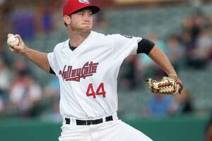 Tri-City ValleyCats pitcher Michael Horrell during a game against the Vermont Lake Monsters on Sunday, Sept. 1, 2019 at the Joseph L. Bruno Stadium in Troy, NY (Jim Franco/Special to the Times Union.)