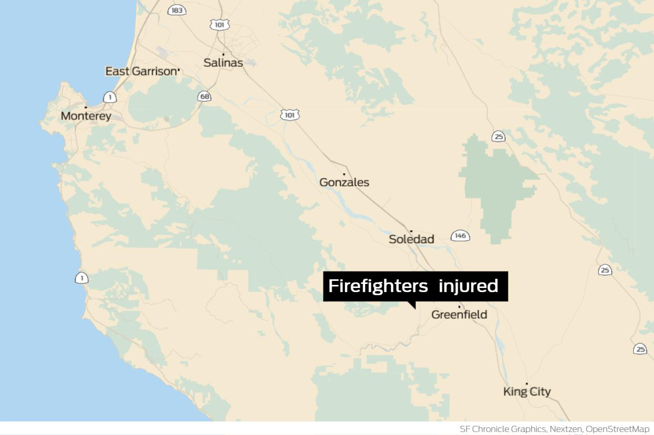 Firefighters suffer burn injuries in Monterey County vegetation fire