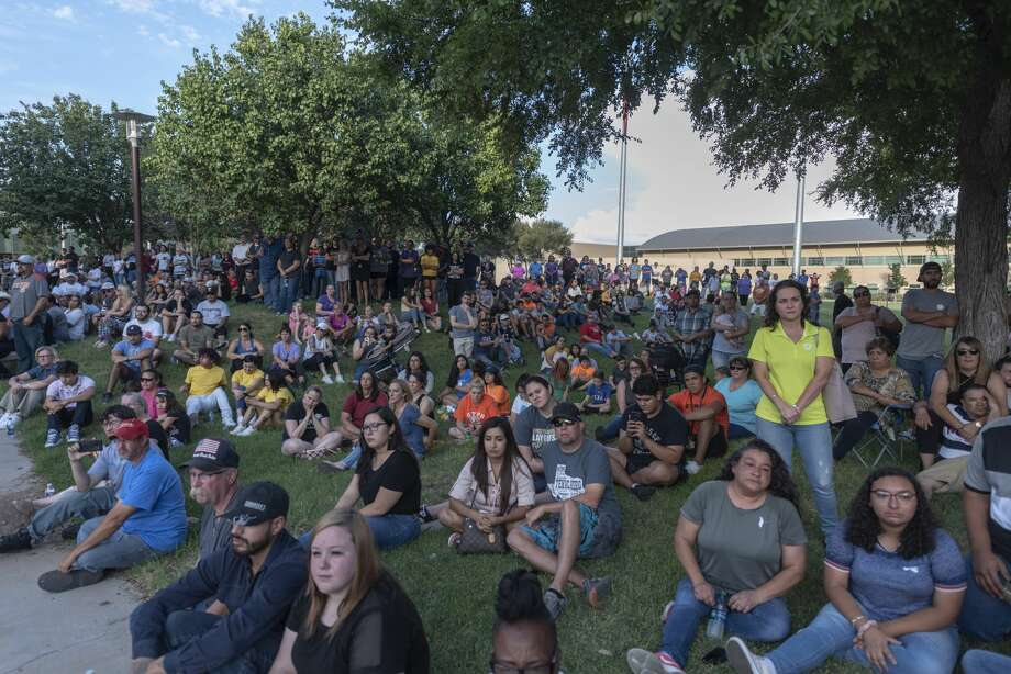 A vigil was held for shooting victims Sunday, Sept. 1, 2019 at the University of Texas of the Permian Basin.  Jacy Lewis/Reporter-Telegram Photo: Jacy Lewis/Reporter-Telegram