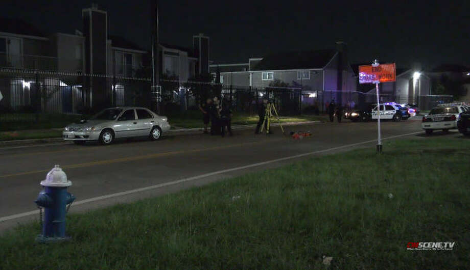 A 3-year-old girl was hit by a pedestrian in Sharpstown late Sunday. Photo: On Scene TV