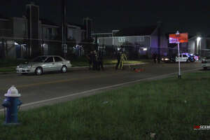 A 3-year-old girl was hit by a pedestrian in Sharpstown late Sunday.