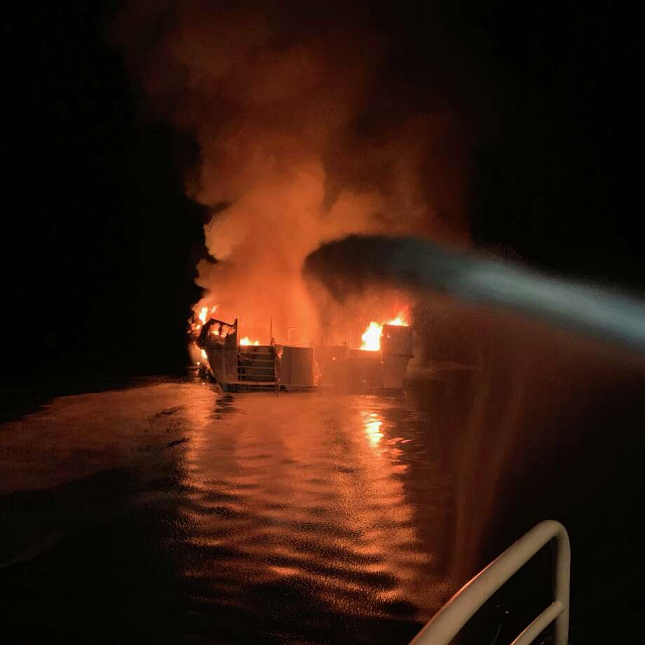 Eight dead, 26 unaccounted for after boat catches fire near
