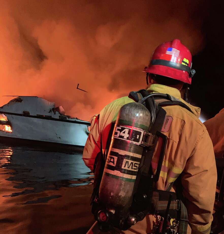"Dozens are missing after a fire on the Truth Aquatics dive boat, ""Conception"" near Santa Cruz island in Southern California's Channel Islands on Monday, Sept. 2, 2019. Photo: Ventura County Fire Department"