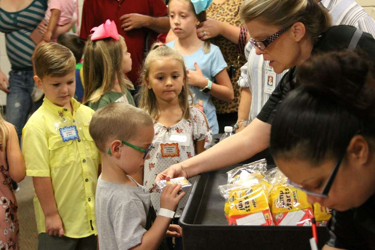 Breakfast was a great icebreaker for elementary students on their first day of the 2019-20 school year on Monday, Aug. 26.