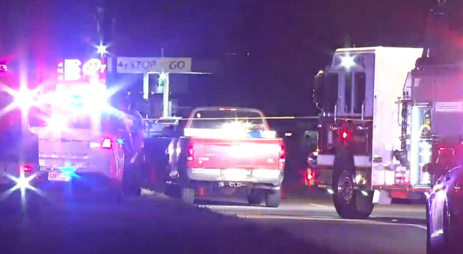 One man was shot twice and another injured after some sort of altercation between moving vehicles in northwest Harris County. Photo: Metro Video