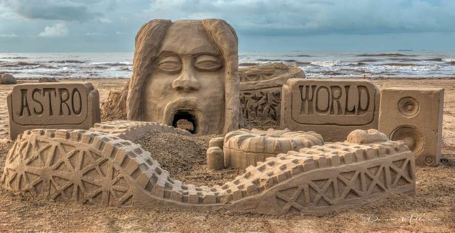 """""""Astroworld: Past and Present"""" built by design firm Stantec was crowned the best Houston-centric sandcastle at the2019 AIA Houston Sandcastle Competition in Galveston Aug. 24. Photo by: David Holland Photo: Photo By: David Holland"""