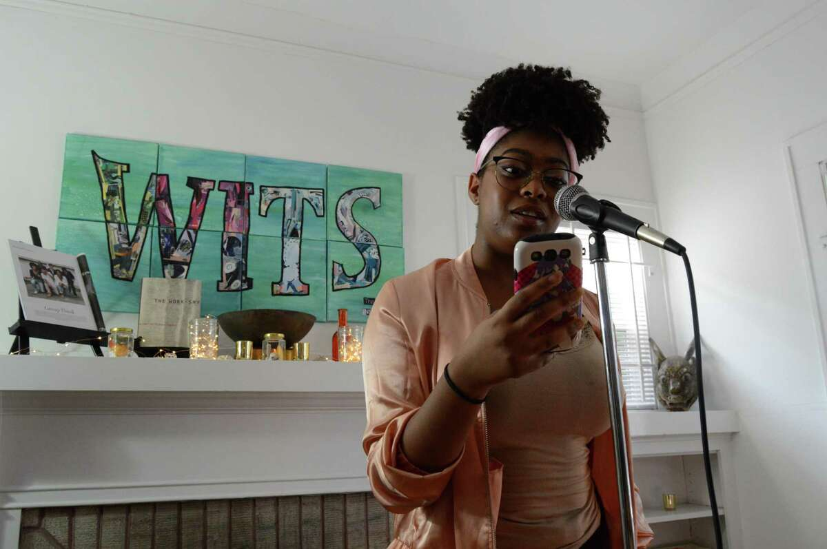 A poet at a Writers in the Schools event.