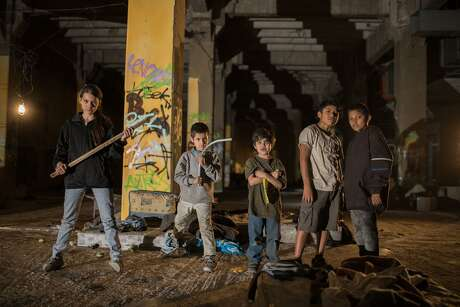 """The street kids of """"Tigers Are Not Afraid,"""" including Paola Lara (left)."""