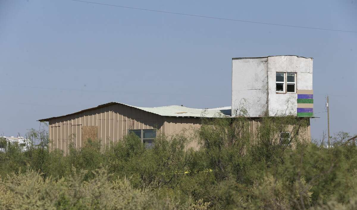 An added room is seen at a shack owned by Seth Ator, 36, in West Odessa, Texas, Monday, Sept. 2, 2019. Neighbors say Ator would used the upstairs windows to shoot animals in his property. He is suspected in killing seven and injuring 22 people in a shooting rampage that started on IH-20 between Odessa and Midland, Texas, Saturday.