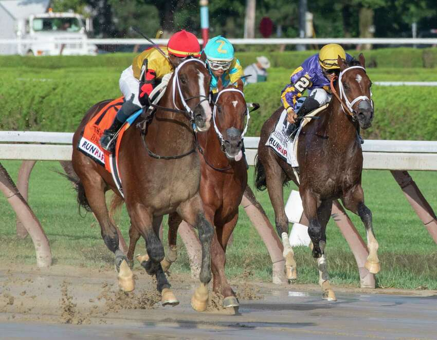 On Monday at Saratoga Race Course, the last day of the meet, a Borough Boy died on the track. Photo Special to the Times Union by Skip DicksteinPhoto Special to the Times Union by Skip Dickstein