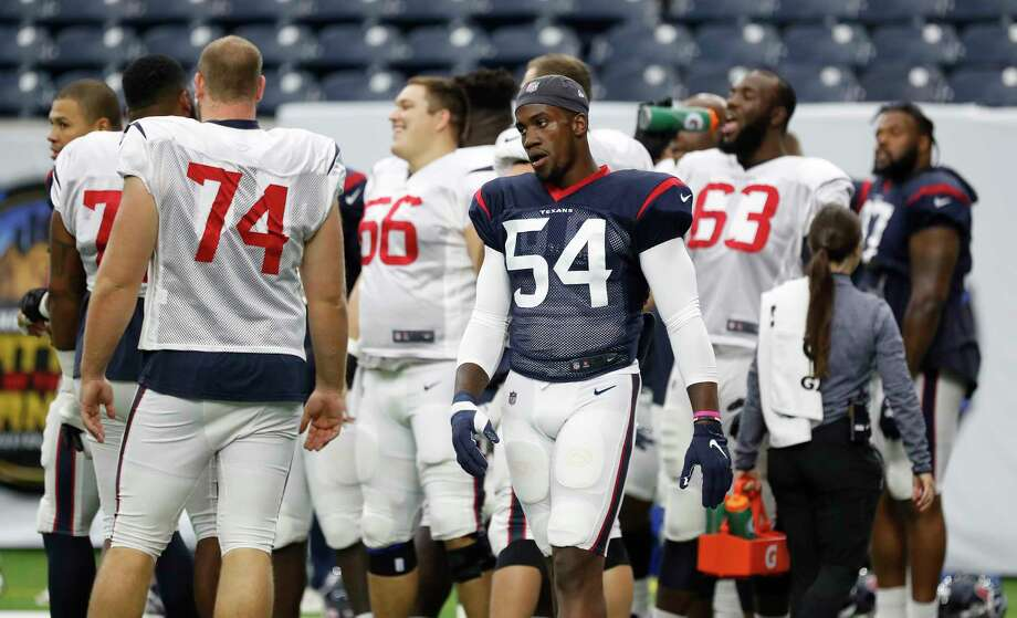 PHOTOS: Texans vs. Colts Newly acquired Houston Texans pass rusher Jacob Martin (54) during the Texans football practice at NRG Stadium, September 2, 2019, in Houston. >>>See more photos from the Texans' win Thursday night ... Photo: Karen Warren, Houston Chronicle / @Houston Chronicle 2019