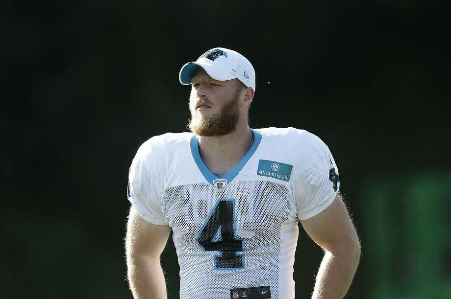 Carolina Panthers' Joey Slye (4) is seen during an NFL football training camp with the Buffalo Bills in Spartanburg, S.C., Wednesday, Aug. 14, 2019. (AP Photo/Gerry Broome) Photo: Gerry Broome / Associated Press