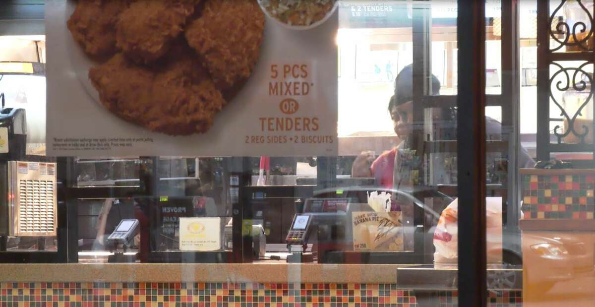 An armed group of people pulled a gun on a Popeyes chicken restaurant manager when he told them they were out of chicken sandwiches, Houston police said.