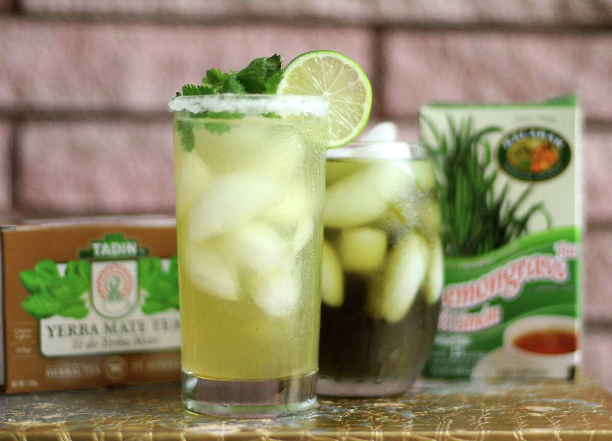 The Tea-quila Quencher is made with Yerba mate and lemongrass teas.