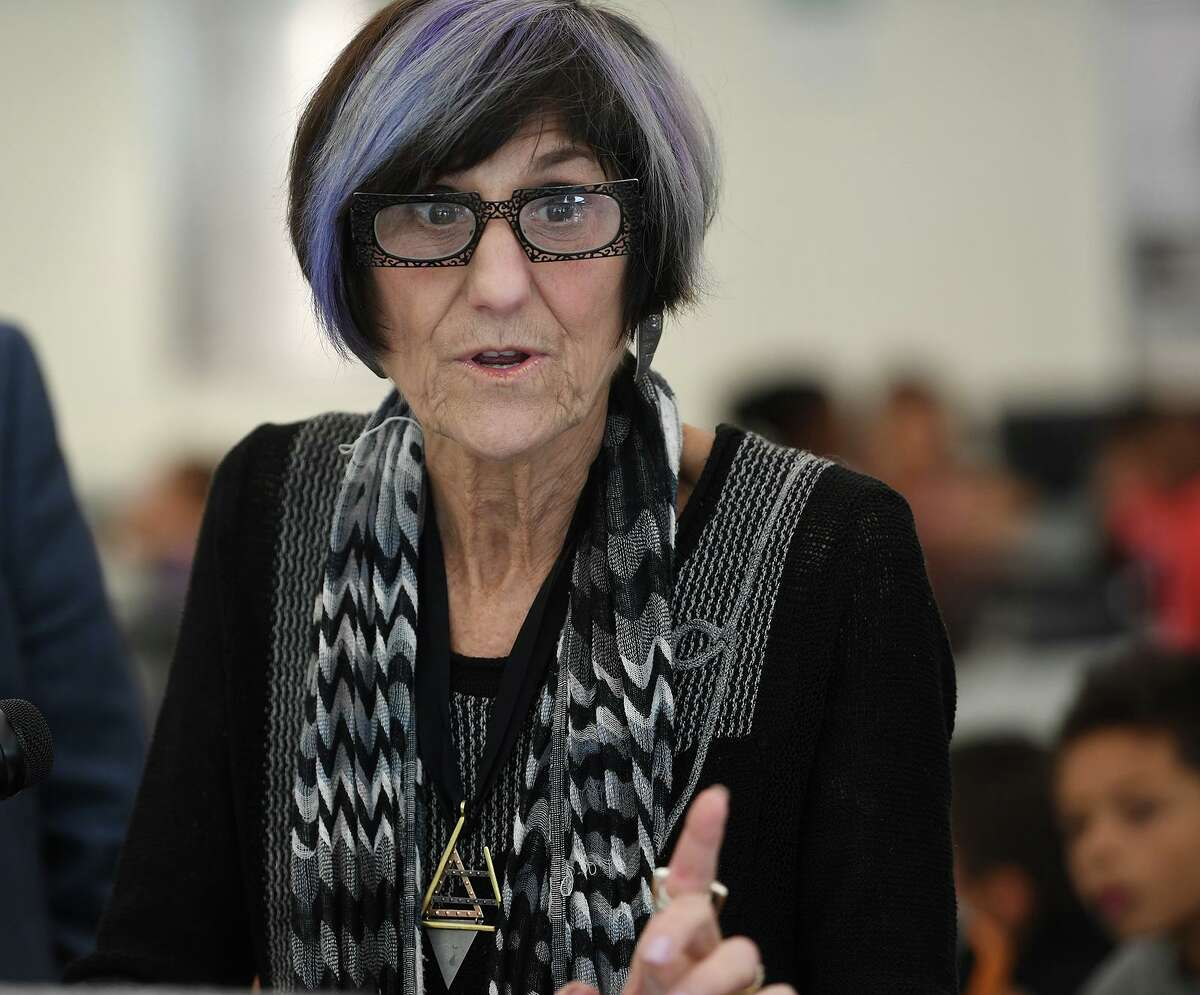 U.S. Rep. Rosa DeLauro during a visit to the summer meals program at Mead School in Ansonia in July.