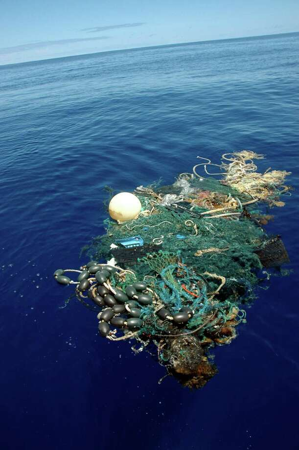 An image by the Scripps Institution of Oceanography shows a patch of sea garbage at sea in the Pacific Ocean. A study released by the Proceedings of the National Academy of Sciences, estimated the total amount of floating plastic debris in open ocean at 7,000 to 35,000 tons. Photo: Mario Aguilera, HONS / Associated Press / Scripps Institution of Oceanogra