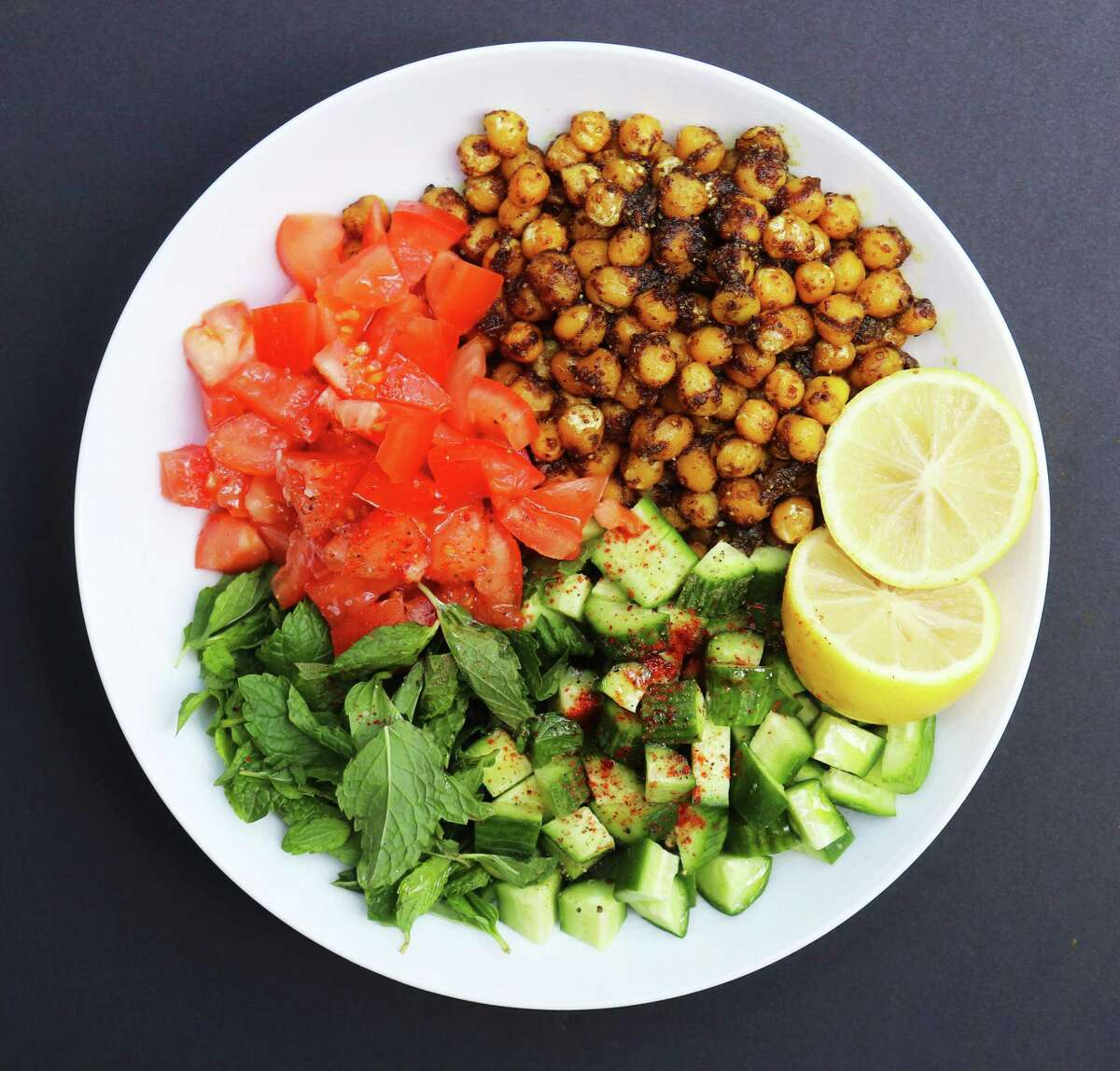 Pan-Roasted Chickpea Salad from chef Anita Jaisinghani