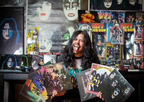 Jules Gabriel Flores, drummer for the local band Over the Top, has a huge collection of Kiss memorabilia he has collected over more than 20 years.